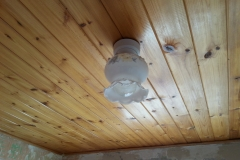 Old style light fitting.