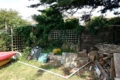 Garden corner before