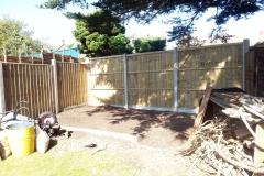 Garden corner after